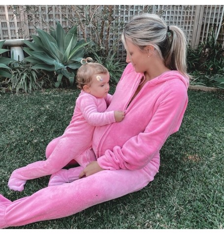 CANDY pink CHENILLE Luxury range MATCHING BABA