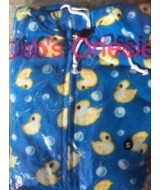 DUCKS DARKER blue ~ fleece onesie