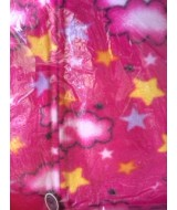 PINK stars clouds fleece onesie