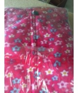 Pink with  small daisy type flowers Onesie   - fleece.