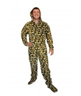 CAMO ~ Green Army camo ~ fleece onesie
