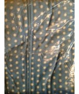 POLKA dots  ~ palest BLUE with white dots ~ Fleece  xxs only
