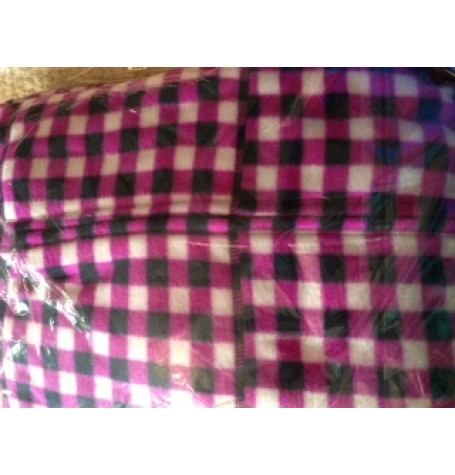 PURPLE CHECK - ~onesie  FLEECE