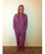 Funky Pinky Purple Leopard onesie   SIZE GOES ON HEIGHT please read description