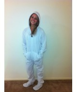 WHITE - onesie fleece