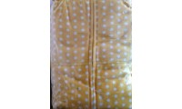 POLKA dots ~ YELLOW with white dots ~ fleece